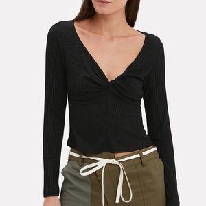 A.L.C. Savannah Rib Knit Black Top